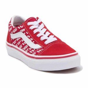 BNIB Kids' Vans Old Skool Logo Repeat Sneakers